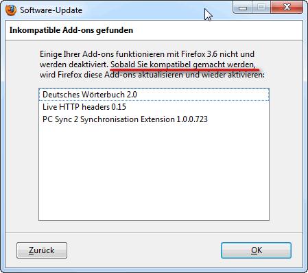 Firefox-Kompatibilität